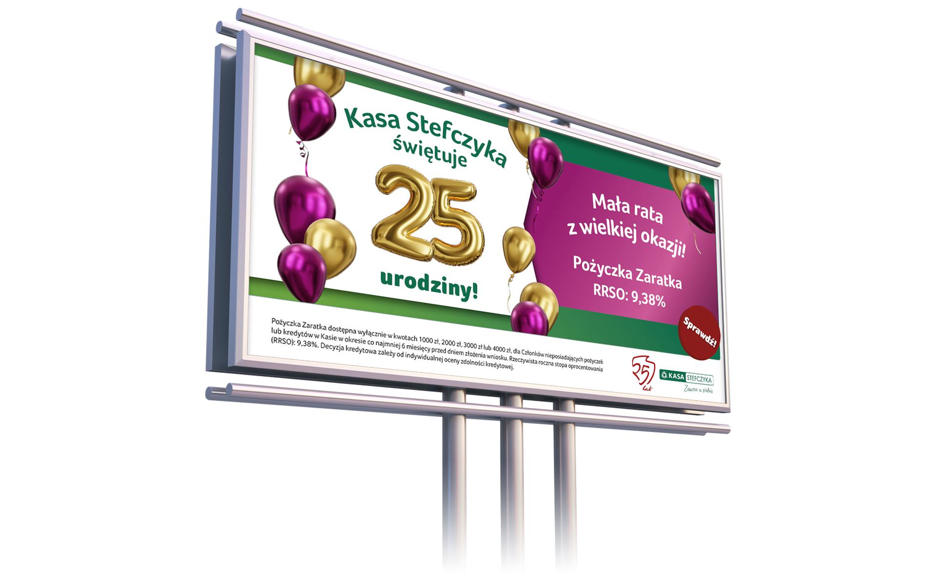 Kampania jubileuszowa Kasy Stefczyka billboard